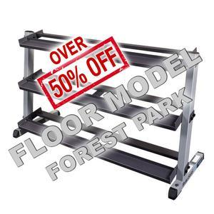 Body-Solid Heavy Duty Dumbbell Rack with 3rd Tier Floor Model - Forest Park