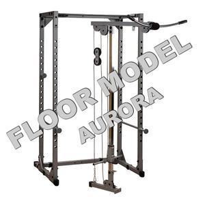 Power Rack with Lat Floor Model