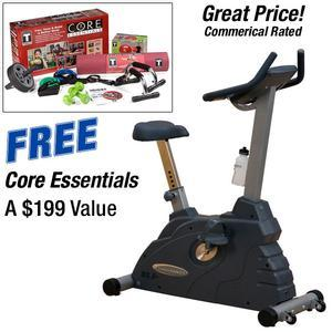 Endurance B2.5 Electronic Upright Bike with Free Core Essentails