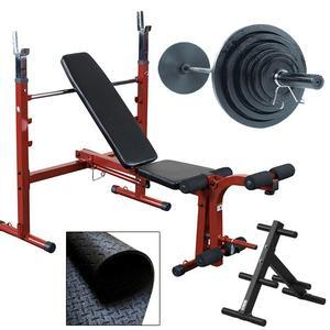 Best Fitness Olympic Bench Package with Weight Set (BFOB10FFO9)