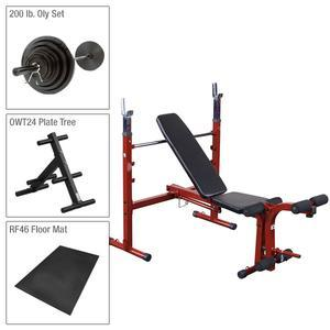 Best Fitness Olympic Bench Package With Weight Set