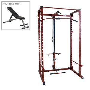Best Fitness Power Rack Package 3 with Lat and Bench (BFPR100P3)