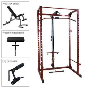 Best Fitness Power Rack Package 4 with Lat and Bench (BFPR100P4)