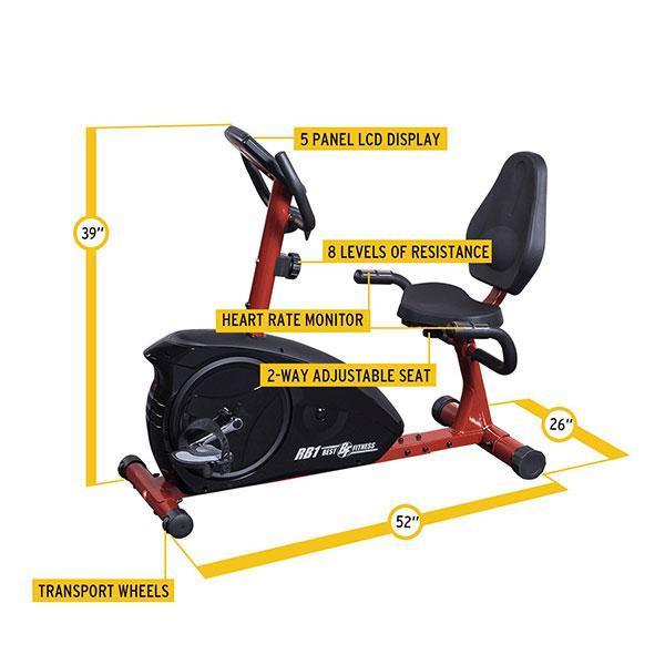 Best Fitness Recumbent Exercise Bike