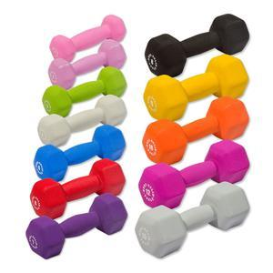 Body-Solid Neoprene Dumbbells 1-15lbs. (BSTND)