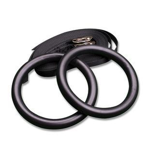 Body-Solid Tubular Steel Rings with Straps