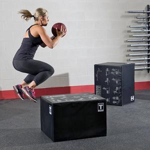 Body-Solid 3-Way Soft Plyo Box 20in., 24in., and 30in. heights