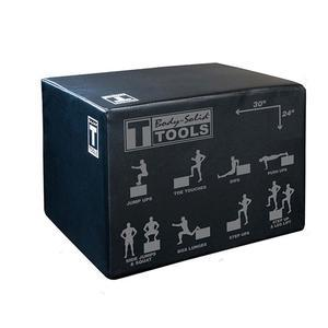 Body-Solid Tools 3-Way Soft Plyo Box 20in., 24in., and 30in. heights