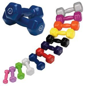 Vinyl Coated Dumbbells 1-15lbs. (BSTVD)