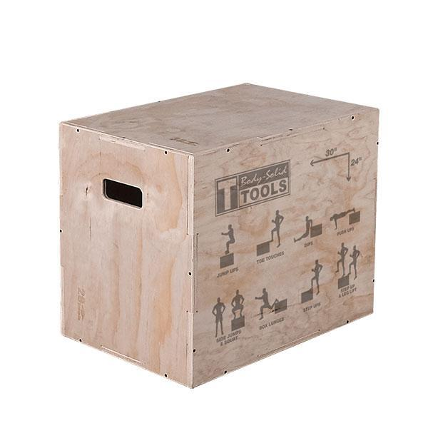 Body solid tools 3 way wood plyo box 20in. 24in. and 30in. heights