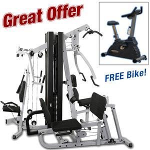 Body-Solid EXM3000LPS Dual Stack Home Gym with Free Bike Promotion