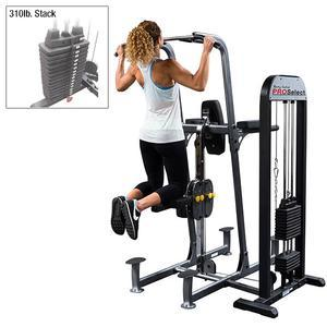 Body-Solid Weight Assist Vertical Knee Raise Machine 300lb. Stack