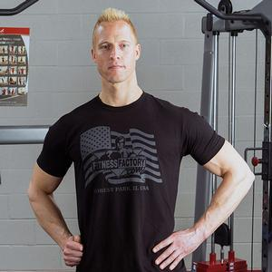Fitness Factory Flag T-Shirts (FFOFLAGT)
