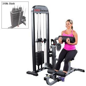 Body-Solid Pro Select Ab and Back Machine 300lb. Stack