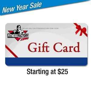 Fitness Factory Gift Cards $25 and Up