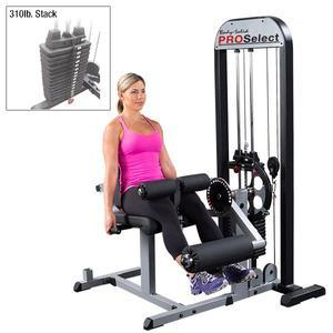 Body-Solid Pro Select Leg Extension Curl Machine 310lb. Stack (GCEC-STK/3)