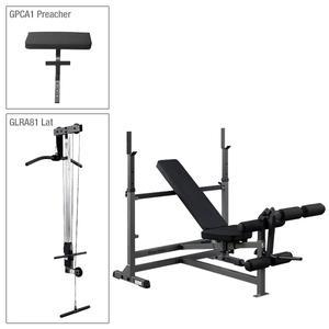 Body-Solid PowerCenter Bench Package with Lat (GDIB46LP4)