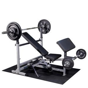 Body-Solid PowerCenter Bench Package with Weight Sets (GDIB46LP8)