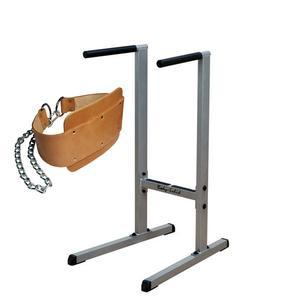 Body-Solid Dip Station with Leather Belt