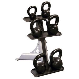 Body-Solid 3 Tier Kettlebell Rack Package