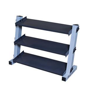 Body-Solid 3-Tier Vinyl and Neoprene Dumbbell Rack