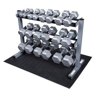 Body-Solid 5-50lb. Hex Dumbbell Package with Rack (GDR363-PKG)