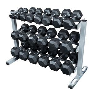 Rugged 5-50lb. Rubber Dumbbell Package