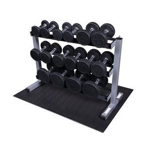 Body-Solid Round Rubber Dumbbell Package