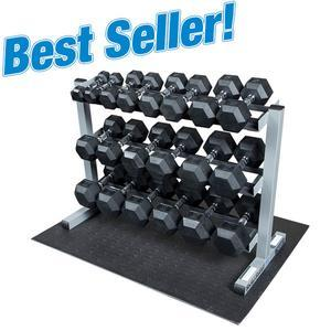 Body-Solid 550lb. Rubber Dumbbell Package