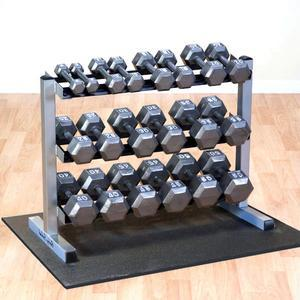 5-50lb. Dumbbell Package with Rack