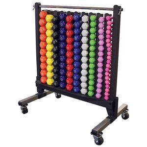 Commercial Vinyl Dumbbell Package with Rack