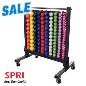 SPRI Commercial Vinyl Dumbbell Package