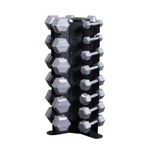 Body-Solid Vertical 5-50 lb. Hex Dumbbell Package