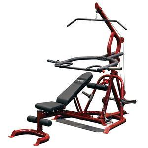 Body-Solid GLGS100 Corner Leverage Gym with Bench (GLGS100P4)