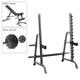 Body-Solid Press Rack, Bench, 300 lb. Weight Set (GPR370P8)