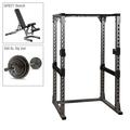 Body-Solid Power Rack, Bench, 300lb. Weight Set