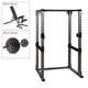 Body-Solid Power Rack, Bench, 300lb. Weight Set (GPR378P300)