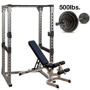 Body-Solid Power Rack Package with 500lb. Set (GPR378P500)