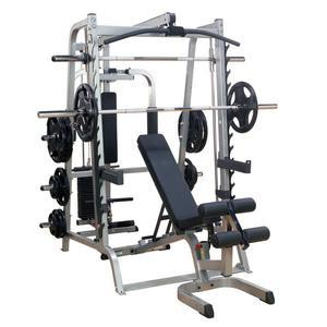 Body-Solid Smith Machine with Options, Bench (Smith Gym) (GS348QP4)