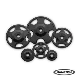 Hampton 255 lb. Olympic Rubber Grip Plate Set