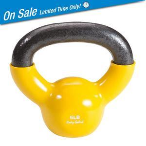 Body-Solid Vinyl Dipped Kettlebells 5-50 Pounds
