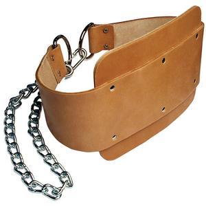 Body-Solid Tools Leather Dipping Belt with Chain