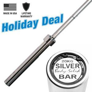 Body-Solid Silver Olympic Bar, Unconditional Warranty