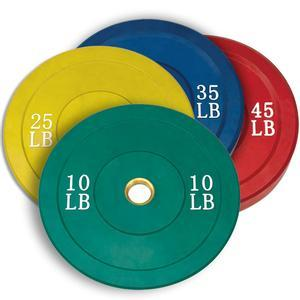 Rubber Color Coded Bumper Plates 10-45lbs.