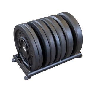 160lb. Premium Bumper Plate Set with Rack, Package 1