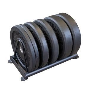 160lb. Premium Bumper Plate Set with Rack, Package 2