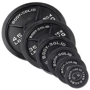 Cast Iron Olympic Weights 2.5lb., 5lb., 10lb., 25lb., 35lb., 45lb. and 100lb. plates (OPB)