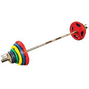 Olympic Color Grip Weight Plate Sets with Bar