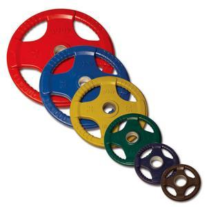 Color Rubber Grip Olympic Weights 2.5lb., 5lb., 10lb., 25lb., 35lb. and 45lb. plates
