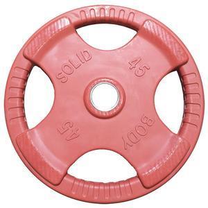 45 lb. Light Red Rubber Grip Plate